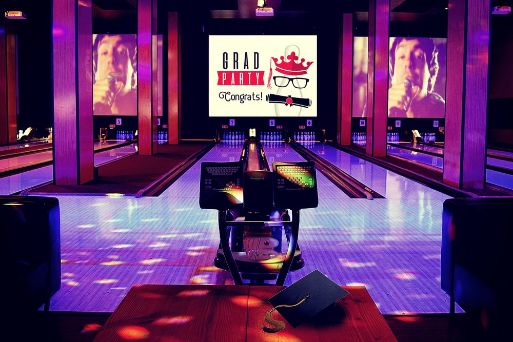 GRAD PARTIES! - Grand Central Bowl is Portland's place to be for graduation parties! We offer the perfect venue for non-stop entertainment. Let Grand Central Bowl help you with stress-free planning of the most memorable night for your Grads! Bowling, Game Play, and more! Full service entertainment starts at Grand Central Bowl!