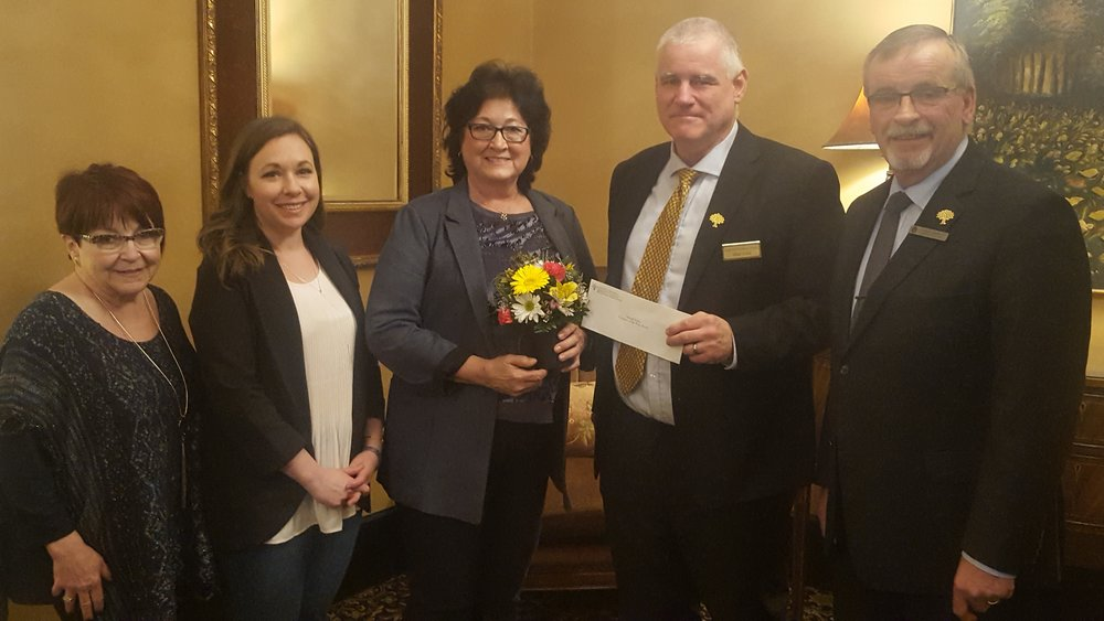 Congratulations to Muriel Tolley- The recipient of the YMCA 2019 Volunteer of the Year Award  Thank you to our friends at Jones-Parkview Funeral Home for your continued support of the YMCA Volunteer program.