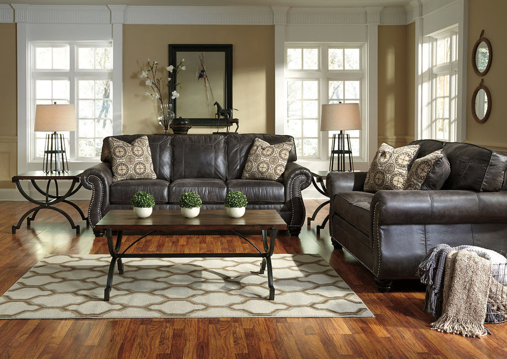 BREVILLE CHARCOAL SOFA/LOVE COMBO REG $2,349 SALE 40% OFF $1,409.40