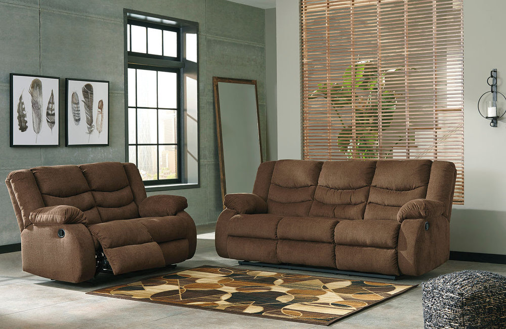 TULEN CHOCOLATE SOFA/LOVE REG $2,299 SALE 40% OFF $1,379.40