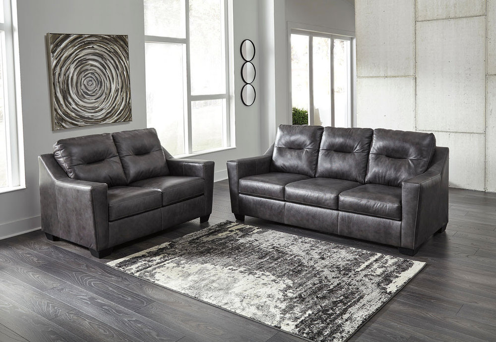 KENSBRIDGE CHARCOAL SOFA/LOVE REG $2,689 SALE 40% OFF $1,613.40