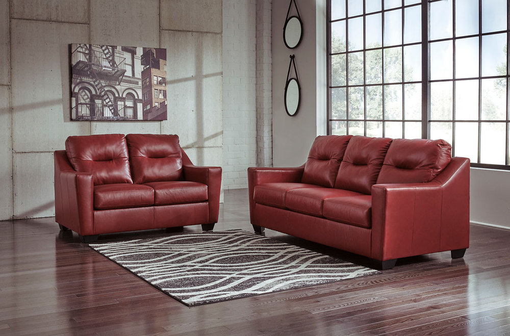 KENSBRIDGE CRIMSON SOFA/LOVE REG $2,689 SALE 40% OFF $1,613.40