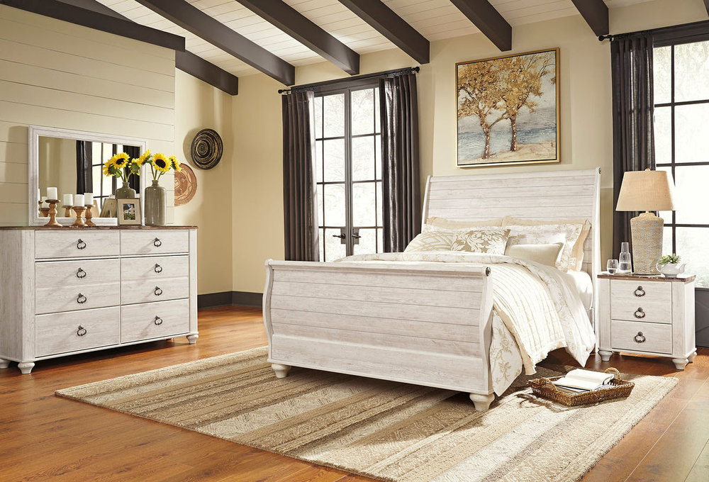 WILLOWTON 6PC BEDROOM COLLECTION REG $2139 NOW $999