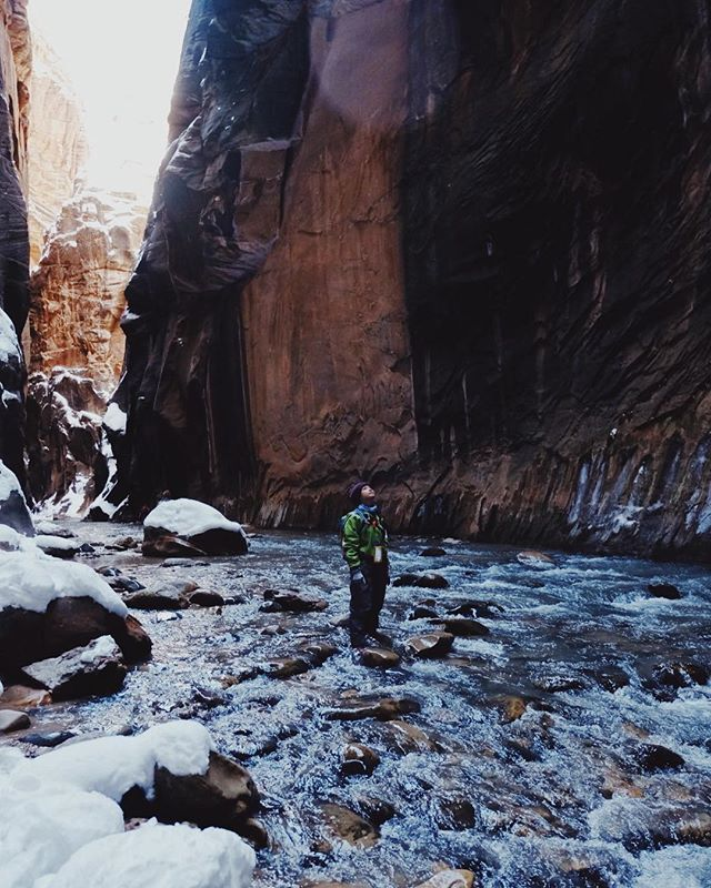 Straight up land, wandering through water, and glorious canyon light