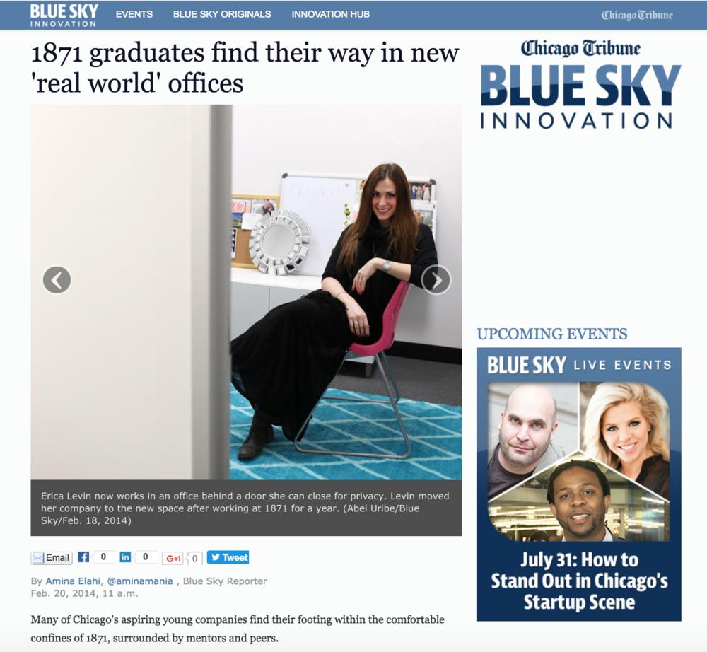 Erica Bethe Levin Chicago Tribune Blue Sky