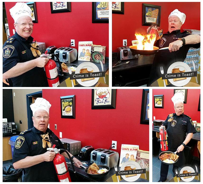 Chief Constable Bob Rich posing for the Facebook photo campaign