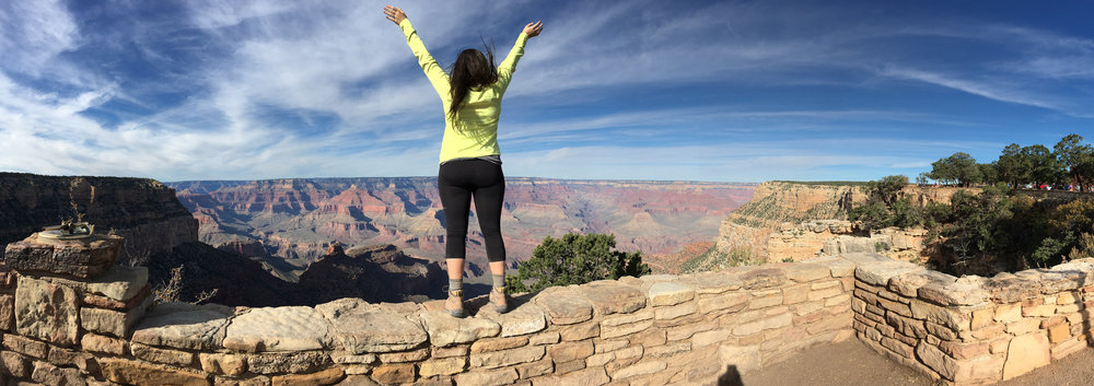 Claire at the Grand Canyon