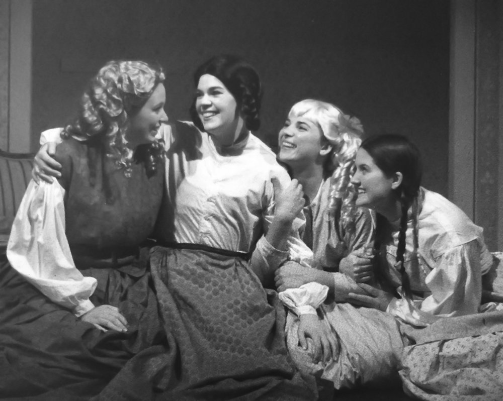 Micaela Hollett (far right) acting as Beth in  Little Women.