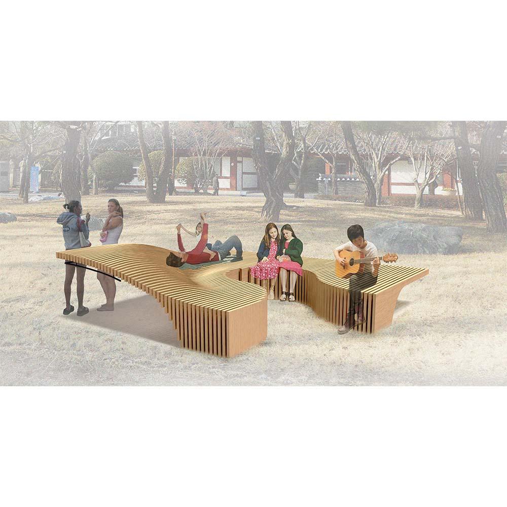 modumaru bench