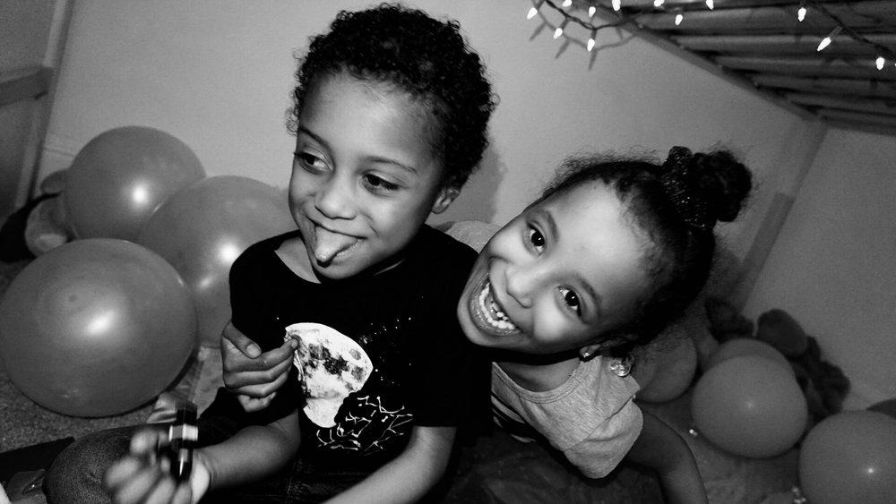 My niece, Yani & nephew, Wusiir (Washington D.C)