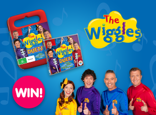 The Wiggles: Duets! Competition Enter now for your chance to win a copy of The Wiggles: Duets on DVD and CD!