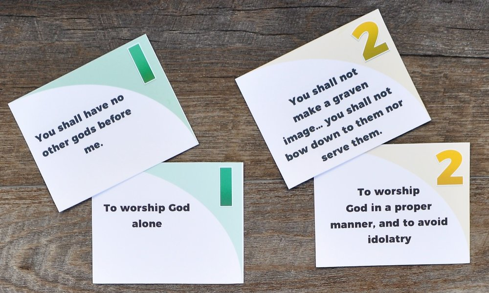 Free Ten Commandments Matching Game - Just download, cut, and play!