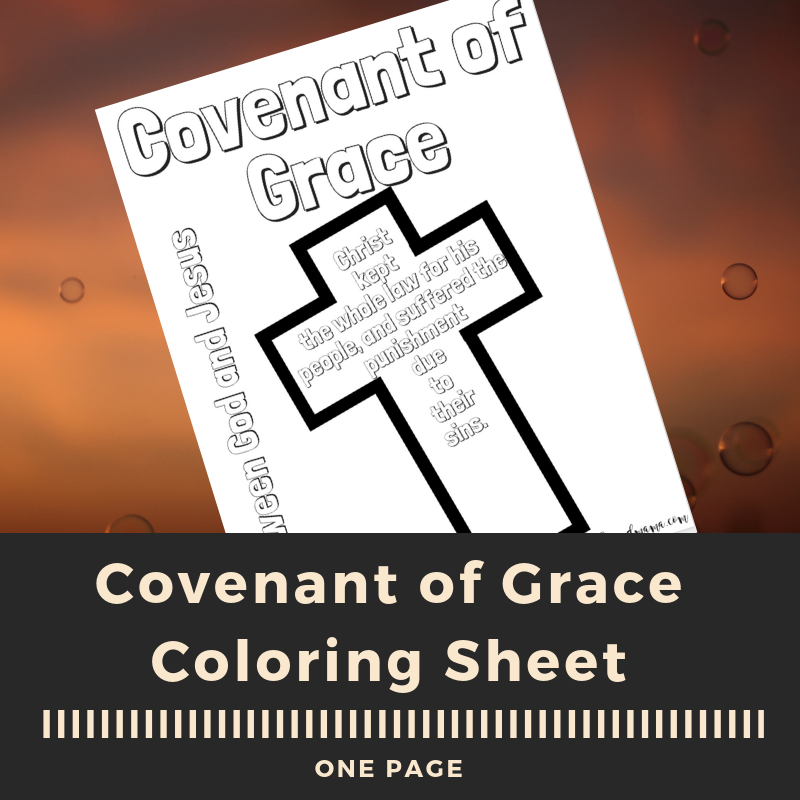 Covenant of Grace Coloring Sheet