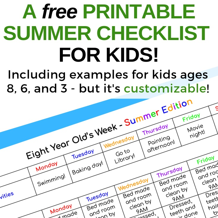 Weekly Summer Scheduling For Kids Including A Free Google