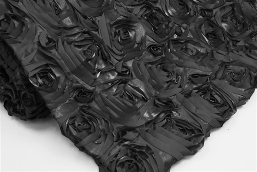 #1 QUILTED BLACK ROSE
