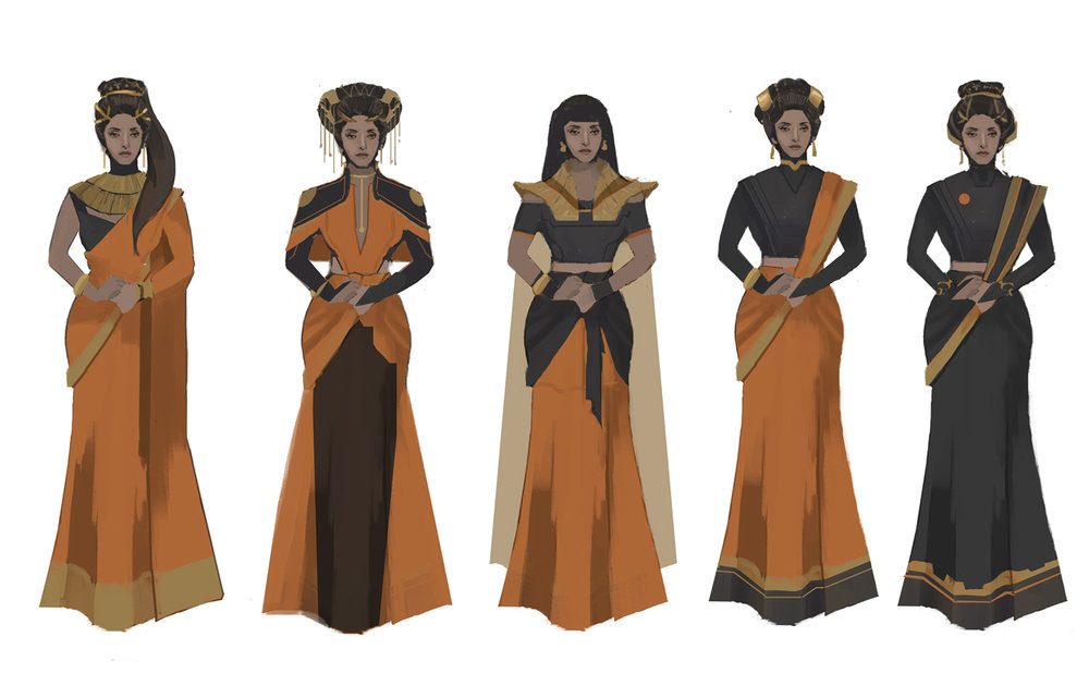 First round of costume exploration for the character Lady Alexandria of BATTLETECH.