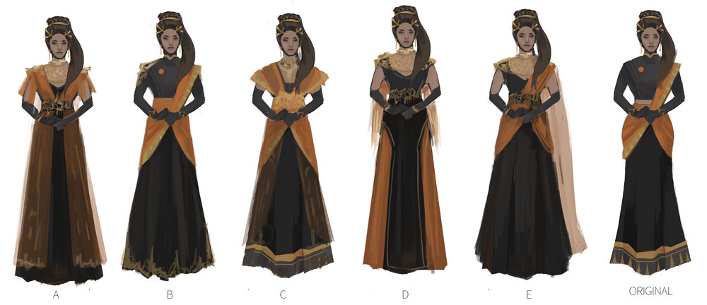 Lady Alexandria costume iteration final round.