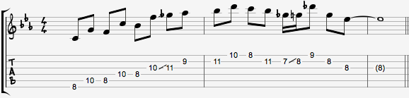 Whole tone chromatic lick