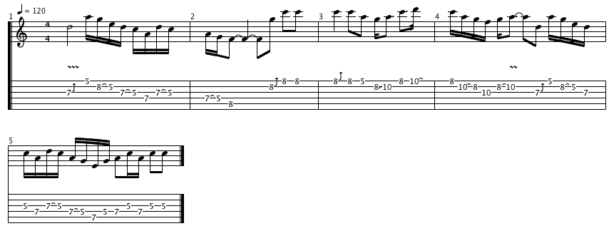 Jimmy Page Stairway to Heaven Transcription