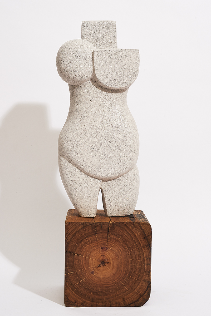 HOLLY RYAN   How You See Me , 2019 Hebel, Raw Steel, Tallowwood 65 (H) x 20 (W) x 25 (D) cm  AUD $ 3,800.00