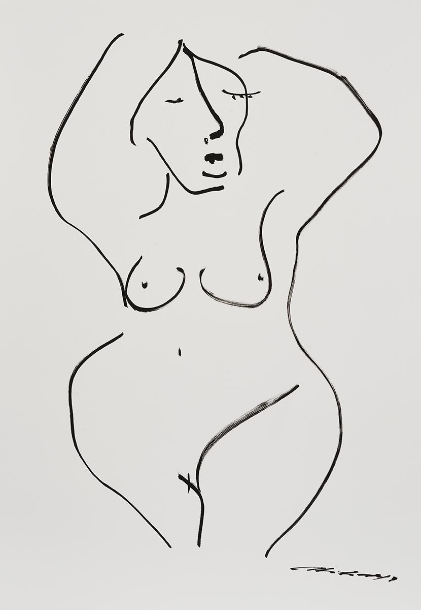 CHRISTIANE SPANSGBERG   Bathe , 2017 Ink on Paper 90.5 x 63.5 cm  AUD $ 3,000.00
