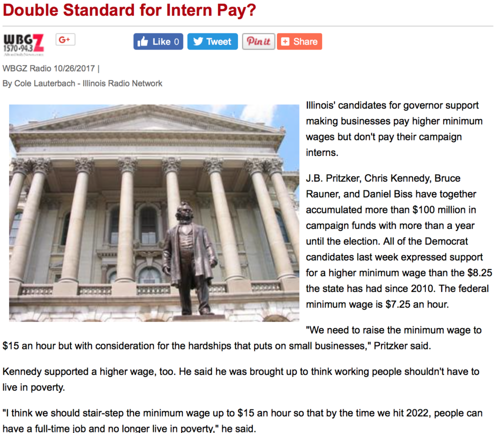 Double Standard for Intern Pay? -