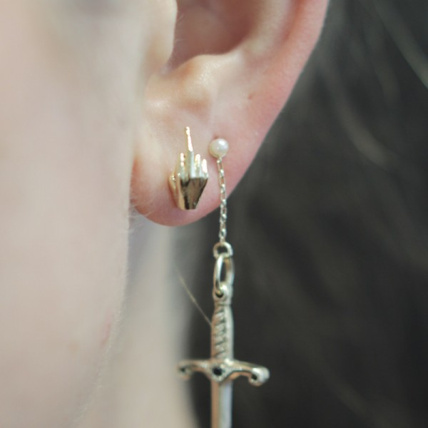 Sterling Silver FU Studs, $62-$528 at Fiat Lux