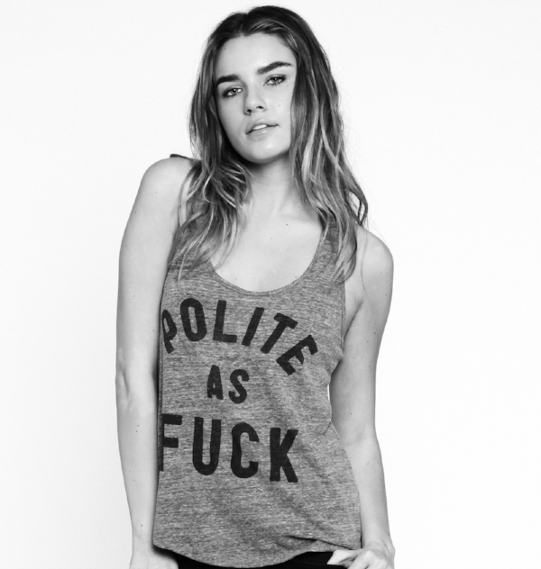 Polite as Fuck tank, $32 at Buy Me Brunch
