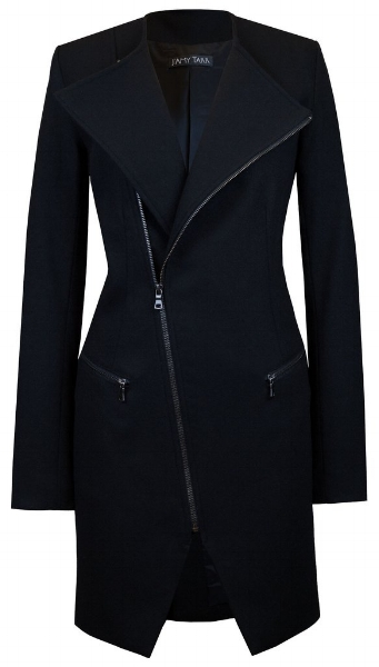 <h2>J'Amy Tarr Black Moto Coat</h2>