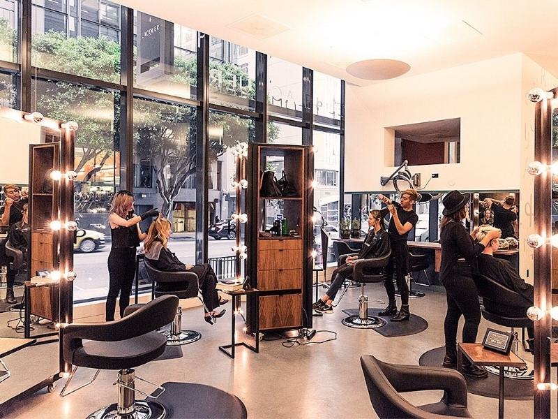 Steel + Lacquer Salon. Photo via Tru.