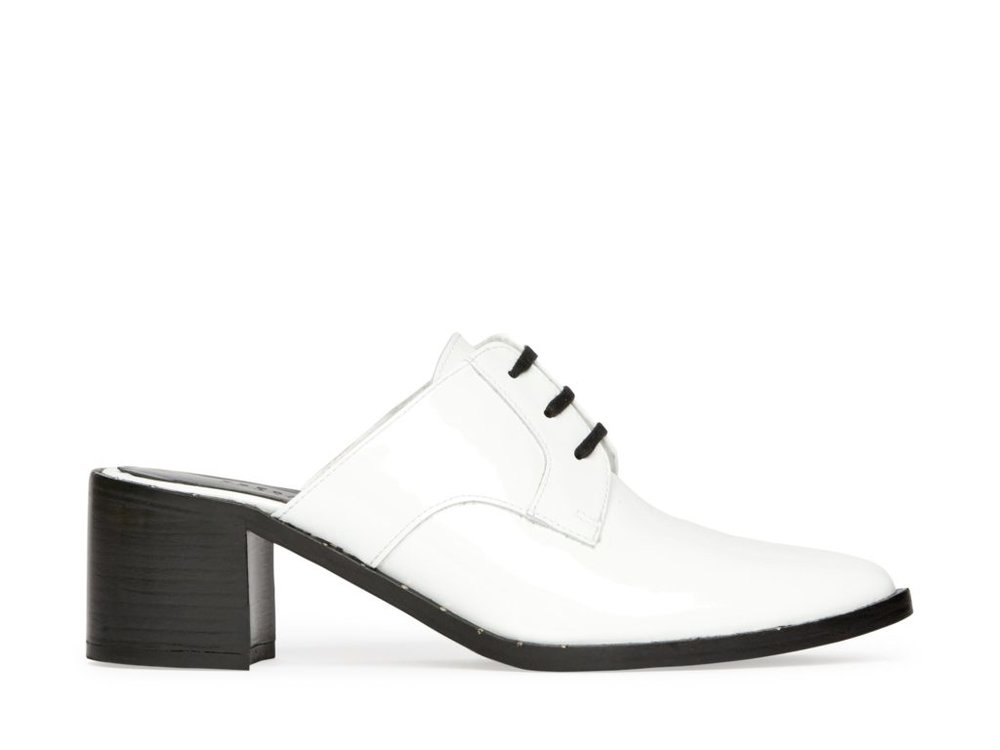 Wander White Patent Oxford Mule, $187.50