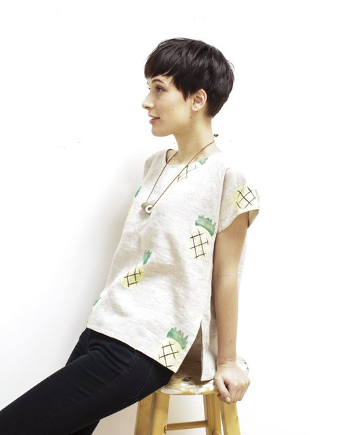 Pineapple Smock Top, $118