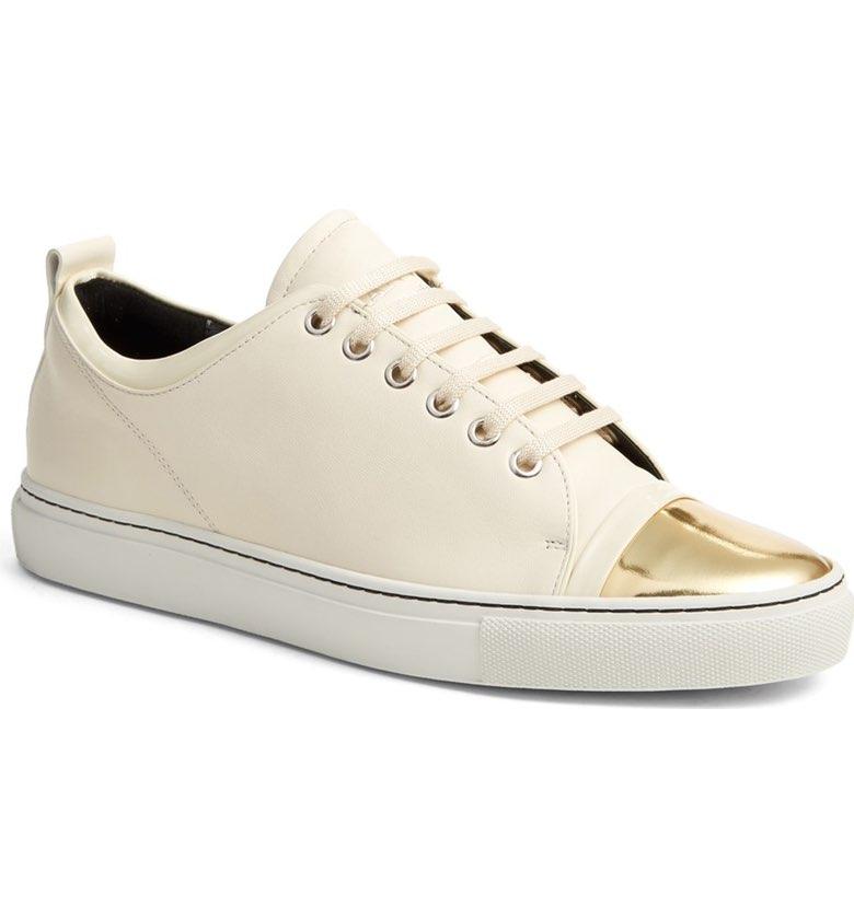 <h2><i>Lanvin Cap Toe Sneaker, $625</h2></i>