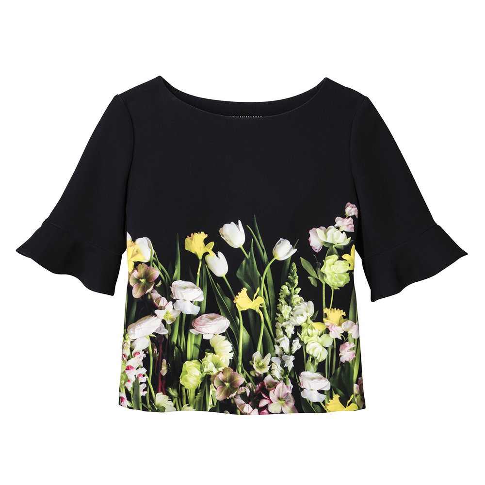 Photo Floral Top, $28