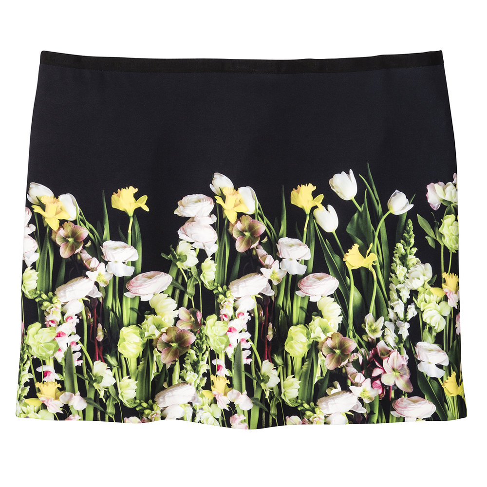 Photo Floral Skirt, $30