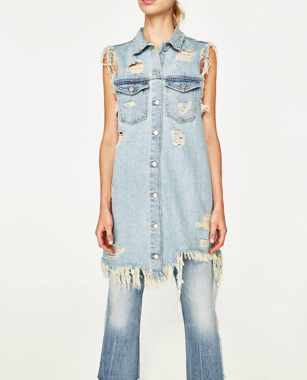 Denim Waistcoat Dress, $49.90