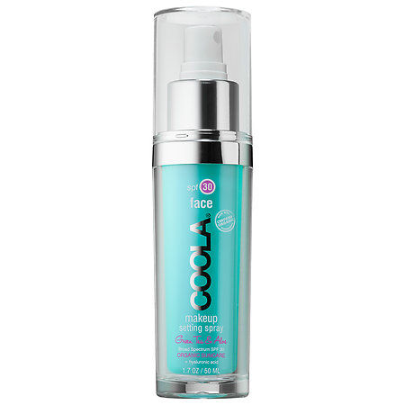 Coola Makeup Setting Spray, $36 - Setting spray is designed to keep your makeup in place, which comes in handy if you're hitting up a warm climate. (LA. Vegas. Miami. Anywhere that's not San Francisco.) Coola's Makeup Setting Spray ($36) is a beauty editor favorite. Yes, the SPF 30 formula shields you from the sun, but it also cools, soothes, and refreshes skin thanks to ingredients like aloe and cucumber. Bonus: because it includes hyaluronic acid, it will soften, tone, and rehydrate skin. If you're shopping IRL, you can almost always find this spray at Sephora or Ulta.