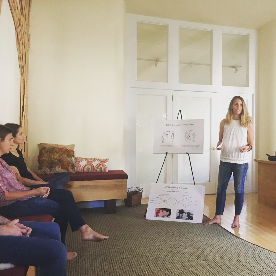 Kristen Vandivier leading a workshop