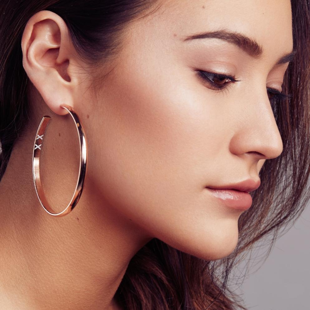 Svelte Metals Valentina Hoops, $495