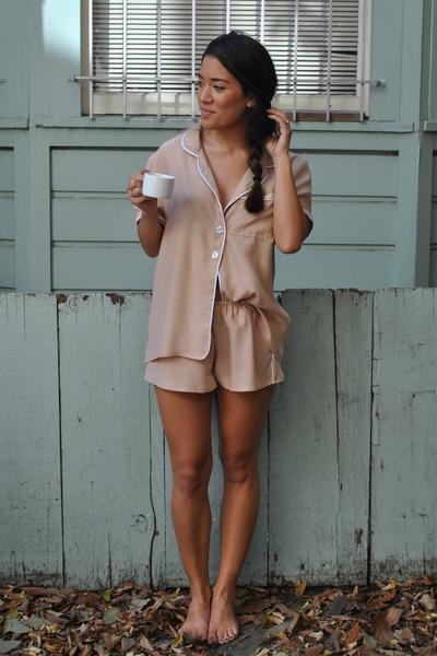 Natalie Deayala Silk Pajamas, $198