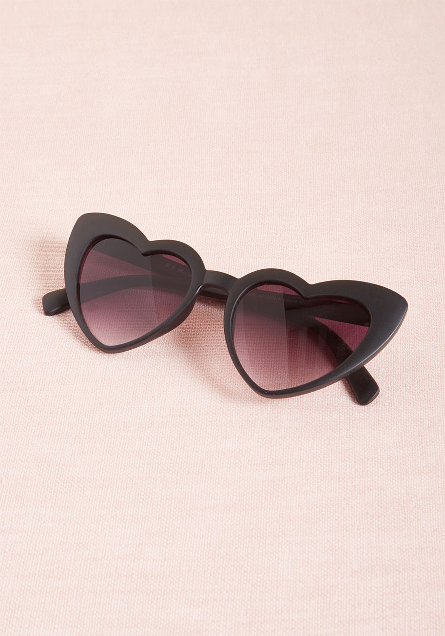Modcloth Wholeheartedly Darling Sunglasses, $19