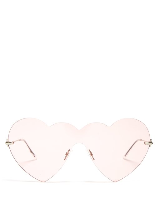 Christopher Kane Heart-Shaped Sunglasses, $338