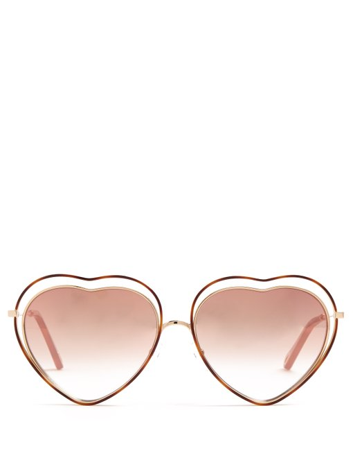 Chloe Poppy Heart-Shaped Sunglasses, $286