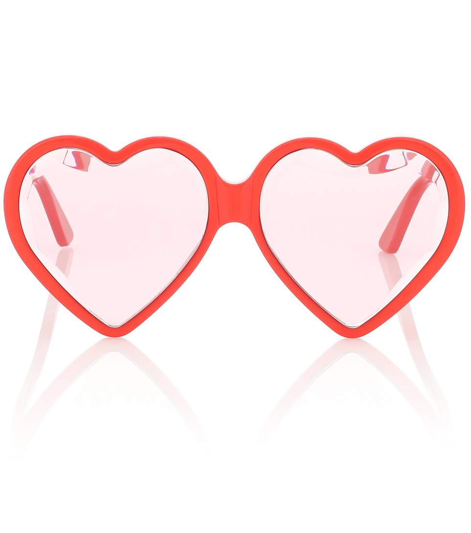 Gucci Heart Frame Sunglasses, $550
