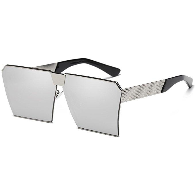 LKEYE Oversize Shield Square Sunglasses, $12.99