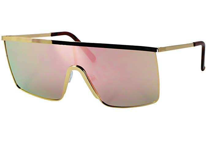 Elite Glasses Oversized Flat Top Square Shield Sunglasses, $11.95