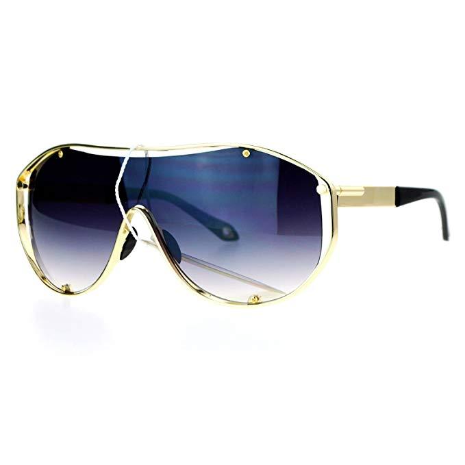 SA106 Oversizes Exposes Lens Shield Sunglasses, $9.95