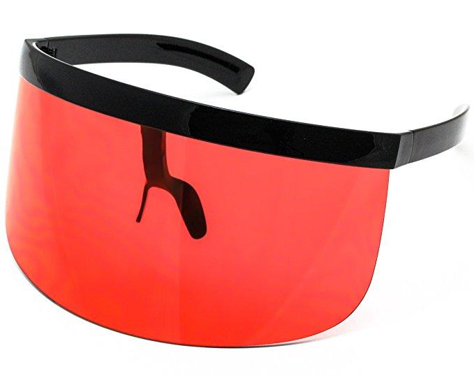 Elite Futuristic Oversize Shield Visor Sunglasses, $13.95