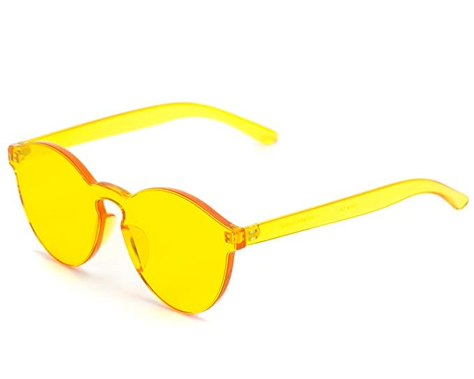 WearMe Pro Frameless Yellow Sunglasses, $9.97