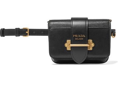 Prada Cahier Leather Belt Bag, $1790